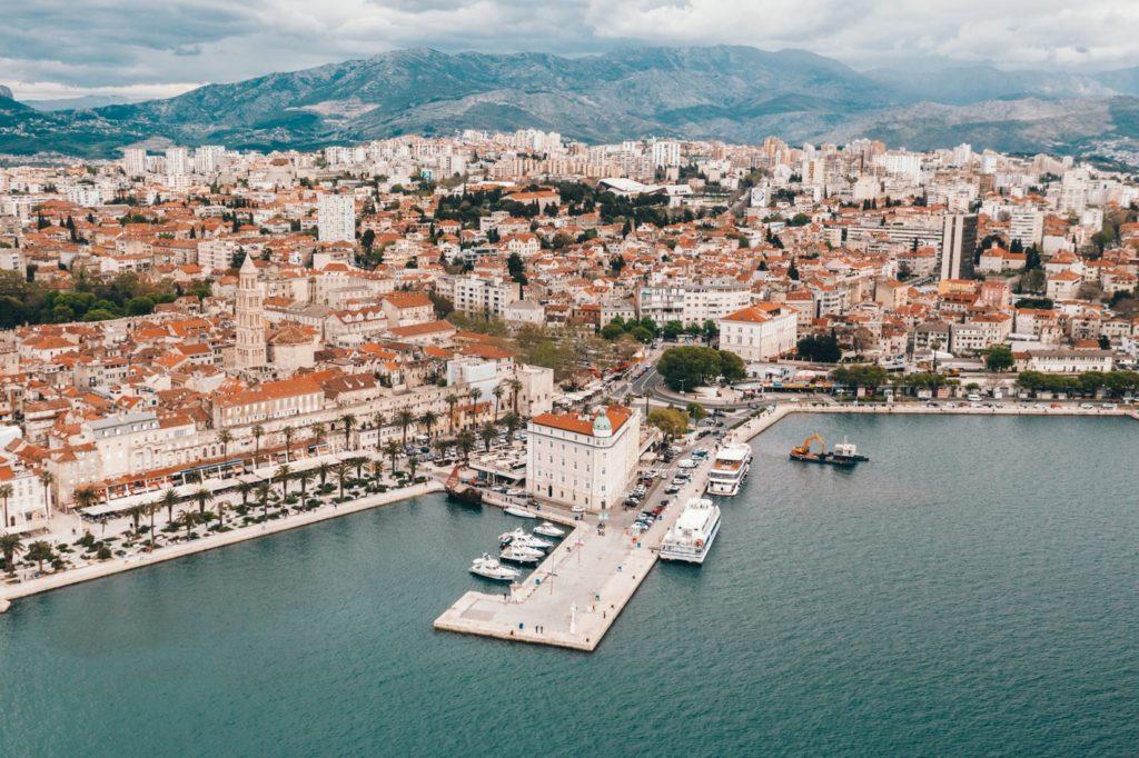 Aerial View of Split, Croatia