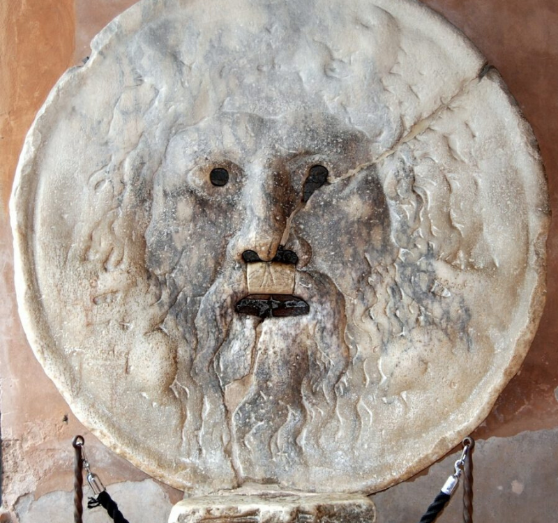 The Bocca Della  Vita or 'mouth of truth' in Rome