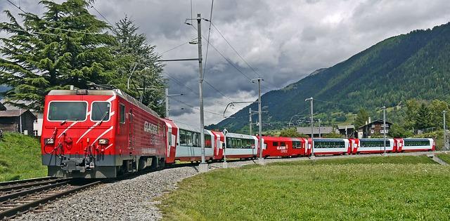 The Glacier Express in Switzerland