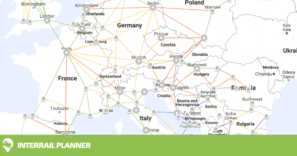 Trip Planner Map Interrail Planner Trip Planner Map